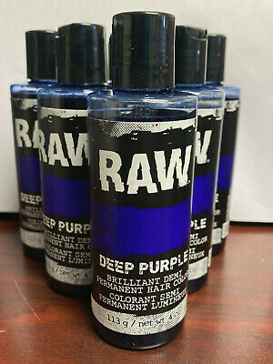 6pcs of Raw Deep Purple (looks blue) Demi Permanent hair color dye Halloween-NEW