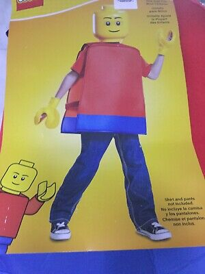 Lego Character Costume (Licensed Lego Iconic 2 Lego Guy Basic Toy Character Costume Child Boys ONE)