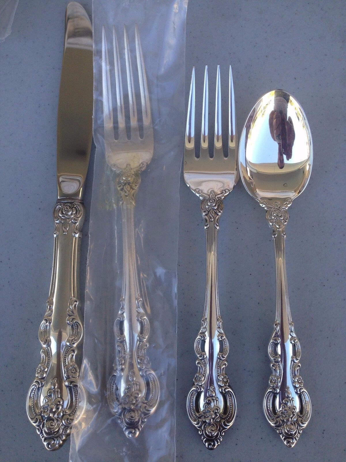 CLEAN HEAVY 4 PC TOWLE EL GRANDEE STERLING SILVER FLATWARE SETTING SETTINGS
