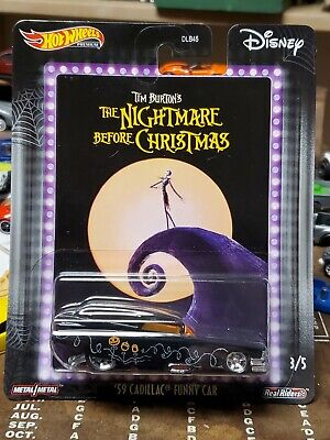 2020 HOT WHEELS PREMIUM '59 CADILLAC FUNNY CAR THE NIGHTMARE BEFORE CHRISTMAS