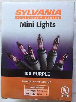 Sylvania Halloween Lights (SYLVANIA  Halloween LIGHT SET 100-Ct. Purple Bulbs 22' Total)