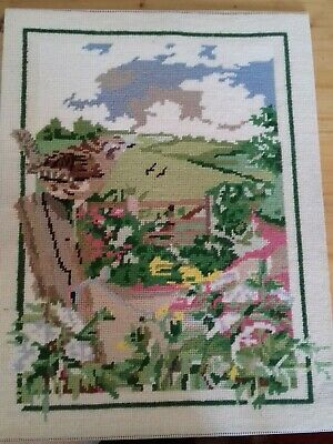 Antique Summer Song Completed Wool Tapestry by Penelope Size 33 x 43 cm