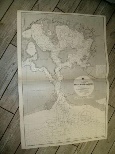 Vintage Admiralty Chart 2294 HAWAIIAN ISLANDS - PEARL HARBOUR 1920 edn