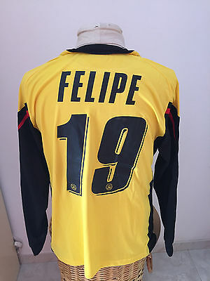 Maglia calcio Udinese match worn 2007 08 n 19 Felipe Brasile shirt jersey camisa image