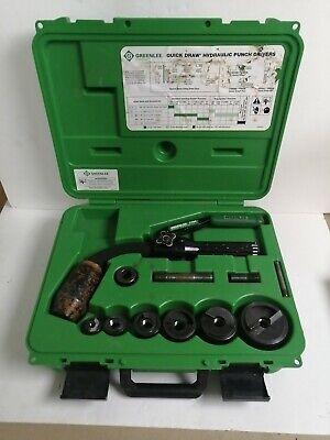 Greenlee 7704 Quick Draw Set Hydraulic Punch Die Tool