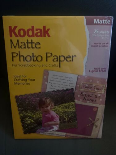 """New Kodak Matte Photo Paper For Scrapbooking And Crafts 25 Sheets 8.5""""x11"""""""