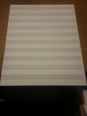 Blank Sheet Music Score Manuscript Paper / Staff Paper  100 Sheets Double Sided