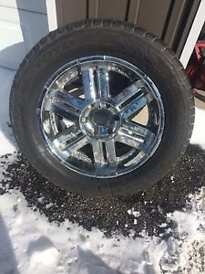 """American racing 20"""" wheels and tires chev 6 bolt"""