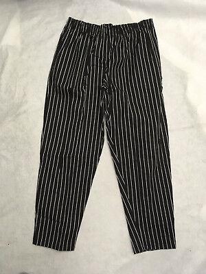 Chef Pants Pant Cook Black White Stripe 3x 4x 5x 6x New Kitchen Pinnacle Baggy