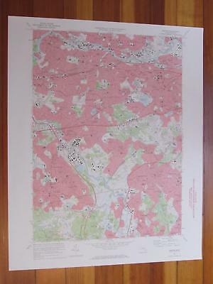 Newton Massachusetts 1973 Original Vintage USGS Topo Map