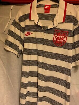 England Nike Polo Shirt Mens Medium