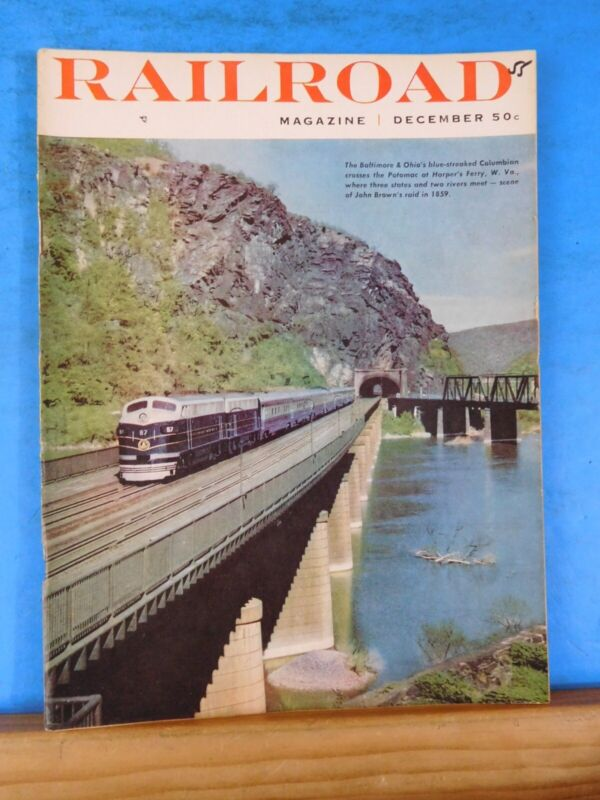 Railroad Magazine 1955 December Steam Locomotives of the New York Central System