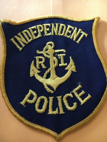 Independent Rhode Island Police Patch Vintage