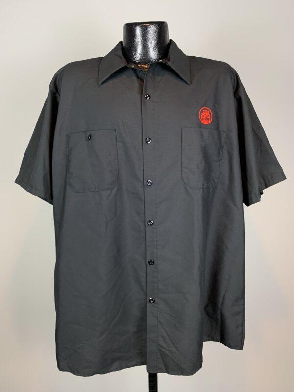 Men's Red Kap New Beligium Brewing Black Full Button Work Crew Shirt NWOT 2XL