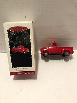 Hallmark Ornament 1956 Ford Truck Red Christmas Decoration Keepsake Collectors