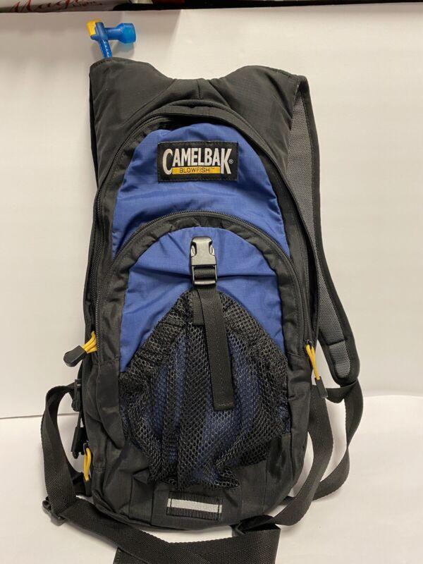 Blue CamelBak Blowfish With 3 Liter Water Bladder Hiking Backpack (H)