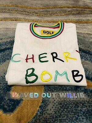 Golf Wang CHERRY BOMB LONG SLEEVE [WHITE] - Tyler The Creator - SIZE S M L XL