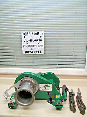 Greenlee 640 4000lb Wire Tugger Puller Chugger W 36 Chains Used Free Shipping