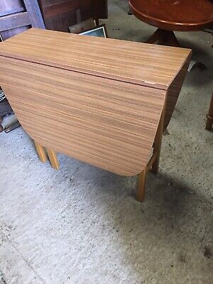 Retro Melamine Formica Type  Kitchen Dining Table Drop Leaf Gate Leg  4/11/M
