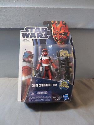 Hasbro Star Wars The Clone Wars Clone Commander Fox MOC Action Figure CW18](Star Wars The Clone Wars Fox)