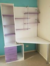 White Desk with hutch and 3 draws plenty of storage space Molendinar Gold Coast City Preview