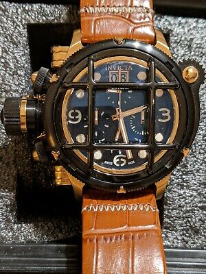 Invicta Swiss Made Russian Diver Nautilus 52mm Black and Gold 17352