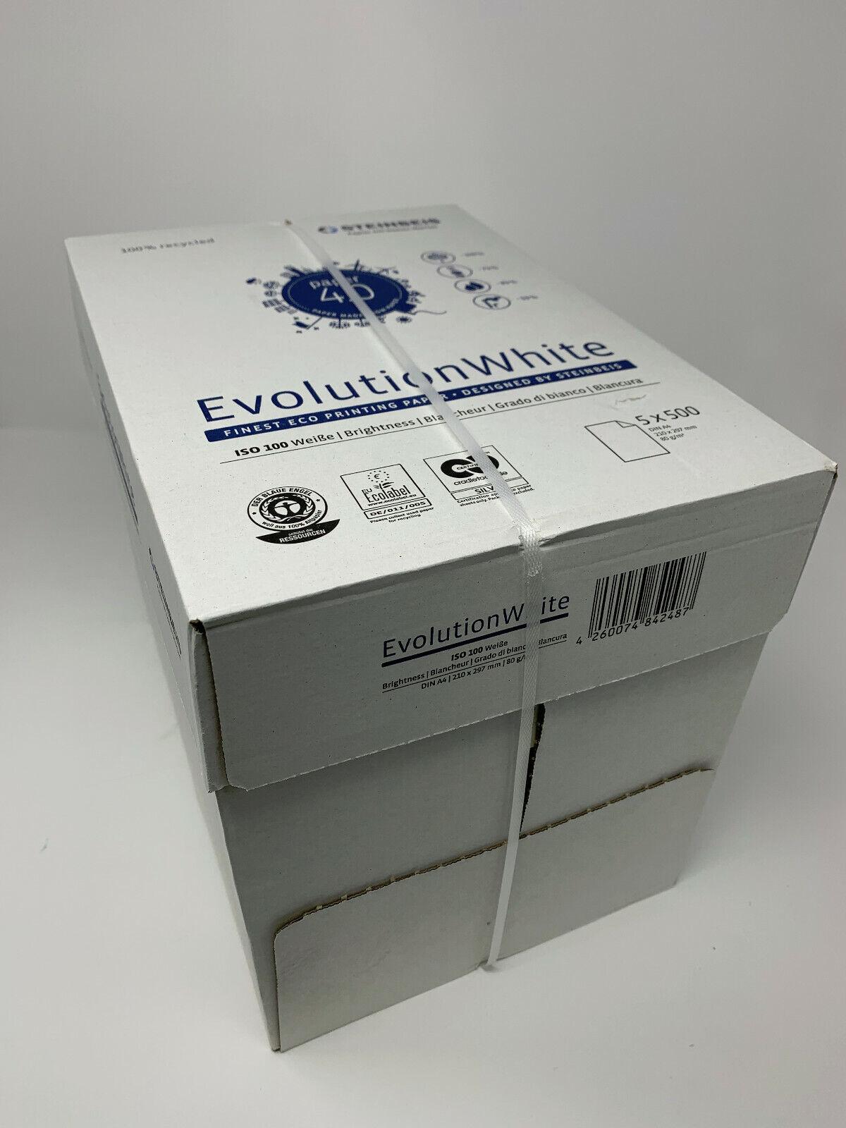 Steinbeis Evolution Druckerpapier - 100% Recycling DIN A4 - 2500 Blatt