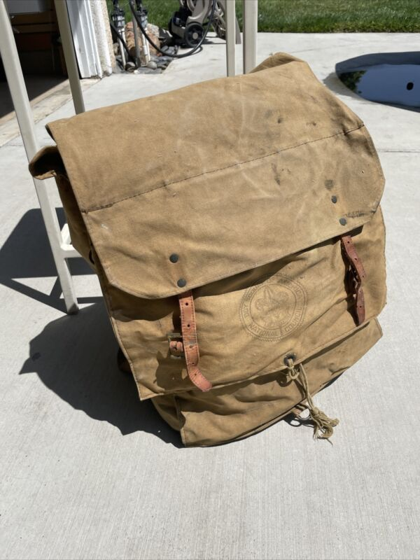 Vintage BSA Boy Scouts Of America No. 574 Yucca Pack Backpack National Council