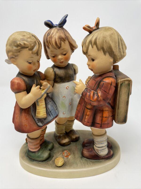 "Vintage 7 1/2"" Goebel Hummel School Girls 177 Figurine"