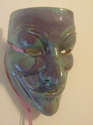 Porcelain Ceramic Hand-Painted Handmade Wall Hanging Face Mask - Decorative Art