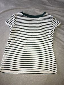 extra small American eagle green and white striped shirt