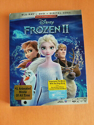 Frozen II 2 (Blu Ray / DVD 2020 + Digital Code) Disney - Free Shipping!
