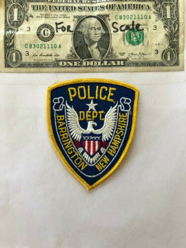 Barrington New Hampshire Police Patch un-sewn in mint shape