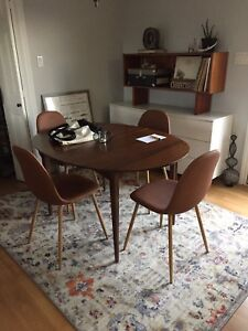 Mid century modern dining chairs (4)