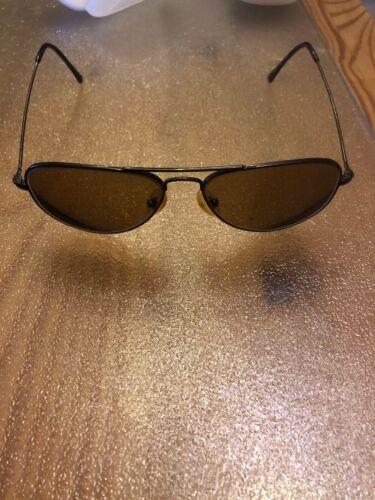 Brillengestell Brillenfassung Herren Schwarz Metall Pilotenbrille