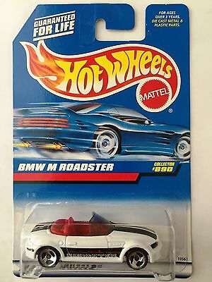Hot Wheels BMW M ROADSTER - White 1998 Mainline Cars #890 topless e36/7 m-coupe