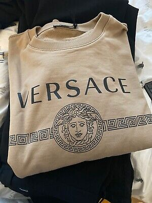 Original Versace 4XL Sweater In Brown