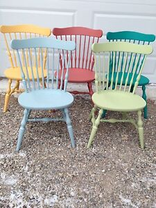 Set of 5 Antique Dining Chairs