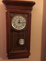 Beautiful 27 Tall - Sunbeam Westminster Chime Pendulum Quarts Wall Clock R=A