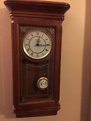 Beautiful 27 Tall - Sunbeam Westminster Chime Pendulum Quarts Wall Clock R=A