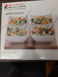 Maxwell Williams White Basic 9-piece Salsa set Chester Hill Bankstown Area Preview