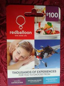 $100 - RED BALLOON GIFT CARD - WITH RECEIPT - UNWANTED GIFT Silkstone Ipswich City Preview