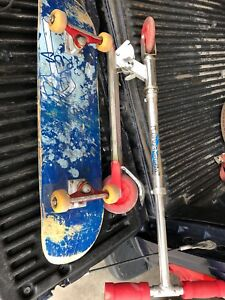 Scooter and skatebord