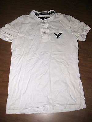 AMERICAN EAGLE Outfitters juniors XS New York bird logo Henley T shirt tee