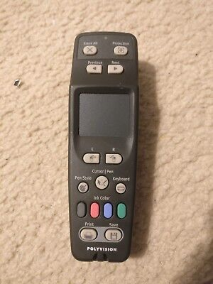 Polyvision Remote Control Walk And Talk Touchpad Controller 750-0275-00