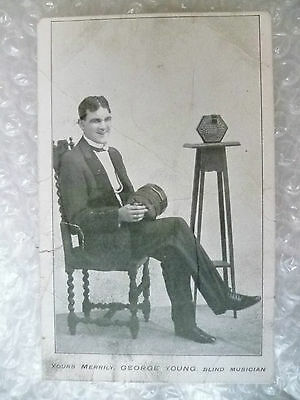 Postcard- GEORGE YOUNG blind Musician