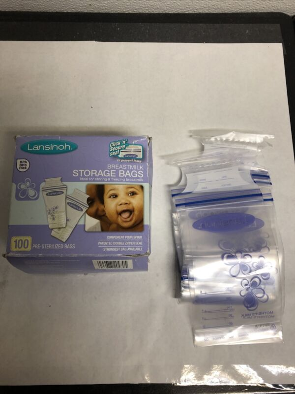 Lansinoh Breastmilk Storage Bags 80 Count Sealed