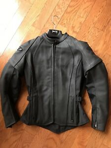 Lady's Gorgeous Leather Motorcycle Jacket and Textile Pants
