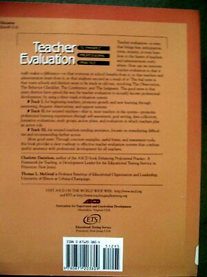 Teacher Evaluation To Enhance Professional Practice By Charlotte Danielson - $4.99