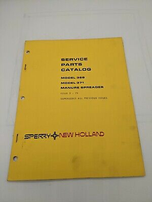 New Holland Service Parts Catalog Model 368 371 Manure Spreader 2-79